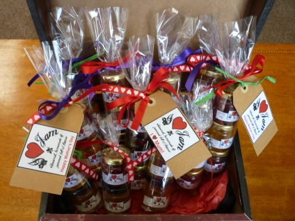 A selection of our jam crackers for mother's day